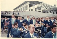 1973 James playing bass clarinet in Japan at the Sho Hondo Convention.
