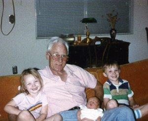 Sheila, Grandpa Carlton, Baby Taylor and Eric.